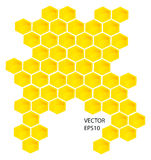 Vector honey combs Stock Photo