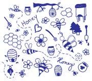 Vector honey drawing Stock Photos