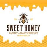 Vector honey logo Stock Photo