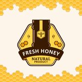 Vector honey logo Stock Photography