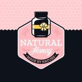 Vector honey logo Royalty Free Stock Photo