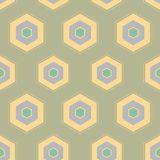 Vector HoneyComb Abstract Geometrical design seamless pattern background royalty free illustration