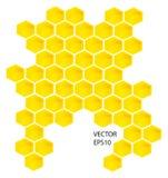 Vector honingskammen Stock Foto