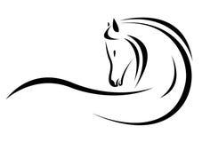 Vector hoofd van paard Royalty-vrije Stock Foto
