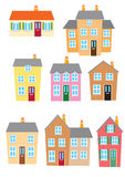 Vector Hoouses. Eight Different styles of houses Stock Photos