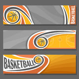 Vector horizontal Banners for Basketball Stock Images