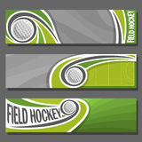 Vector horizontal Banners for Field Hockey Stock Photo