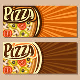 Vector horizontal banners for Pizza Stock Photos