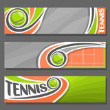 Vector horizontal Banners for Tennis vector illustration