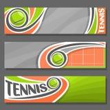 Vector horizontal Banners for Tennis Stock Photos