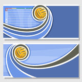 Vector horizontal banners for Water Polo Royalty Free Stock Image
