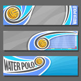 Vector horizontal Banners for Water Polo Stock Photos