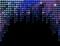 Vector horizontal blue rhinestone mosaic backgroun Royalty Free Stock Images