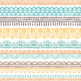 Vector horizontal crochet seamless pattern. Stock Image