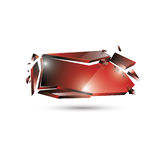 Vector Horizontal 3d Banner Stock Images