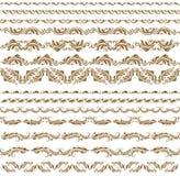 Vector horizontal de la decoración de los elementos ilustración del vector
