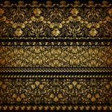 Vector horizontal de la decoración de los elementos Imagenes de archivo