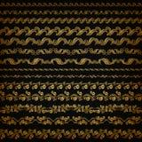 Vector horizontal de la decoración de los elementos Foto de archivo