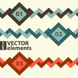 Vector horizontal elements. For infographics Royalty Free Stock Image