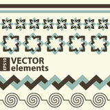 Vector horizontal elements. For web design Stock Image