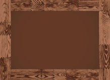 Vector horizontal frame - dark wood Stock Image