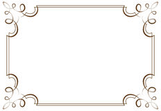 Vector horizontal frame. Element for design Royalty Free Stock Photo