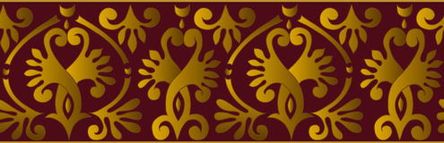 Vector horizontal ornament Stock Images
