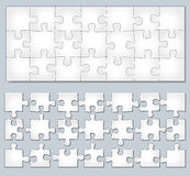 Vector horizontal puzzle Royalty Free Stock Photography