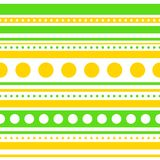 Vector horizontal stripes and circles seamless. Pattern. Eps10 Stock Image