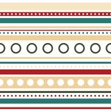 Vector horizontal stripes and circles seamless stock photo
