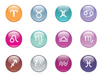 Vector horoscope icon set Stock Image