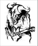 Vector horror music. Vector style illustration hard rock music Royalty Free Stock Image