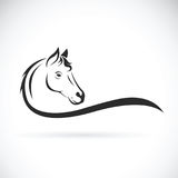 Vector of a horse head on white background. Animal. Vector of a horse head on white background. Wild Animal Stock Photos