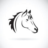 Vector of a horse head on white background. Royalty Free Stock Photography