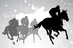 Vector horse races Royalty Free Stock Photos