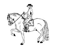 Horseback riding Illustrations Royalty Free Stock Photos