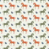 Vector horse seamless pattern background Stock Images