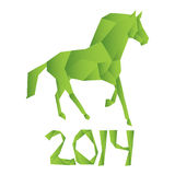 Vector horse symbol of the new year. Abstract  horse symbol of the new year Stock Image