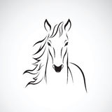 Vector of a horse on white background. Royalty Free Stock Photo