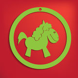 Vector horse for your design Stock Images