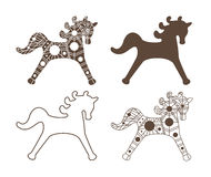 Vector horses silhouettes. Royalty Free Stock Images