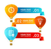 Vector. Hot air ballons option banners Stock Photo