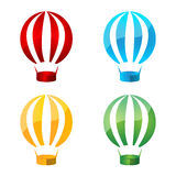 Vector Hot Air Balloon Set Royalty Free Stock Photography