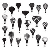 Vector hot air balloons set Royalty Free Stock Image
