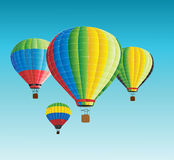 Vector hot air balloons in the sky Stock Image