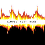 Vector hot background. With flames on black and white Royalty Free Stock Images