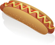 Vector Hot Dog Royalty Free Stock Photos