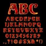 Vector hot font Stock Photo