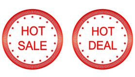 Vector Hot sale, Hot Deal labels. Stock Photography