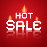 Vector Hot Sale Paper Title In Flames Stock Photography